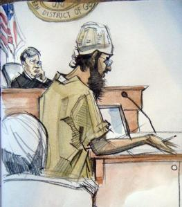 Sketch of Ehsanul Islam Sadequee at Trial courtesy of the AJC