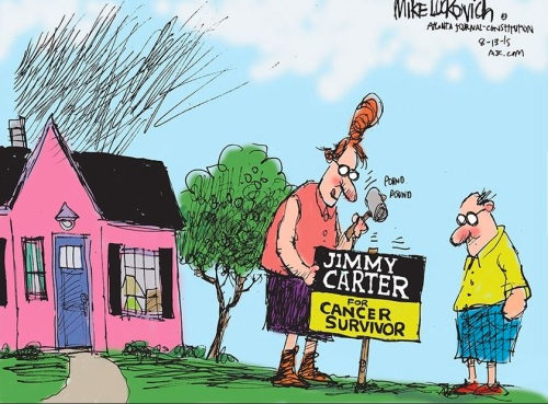 Jimmy Carter for Cancer Survivor by Mike Lukovich